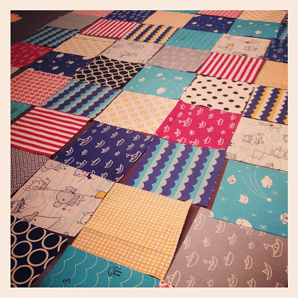 Working on a lap quilt for my littlest boy with some super cute @cloud9
