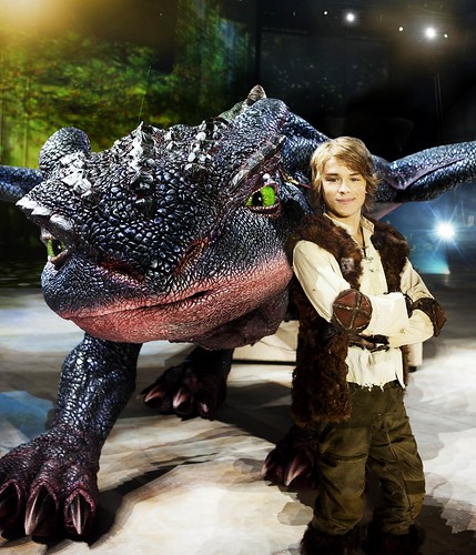 Hiccup (Rarmian Newton) and Toothless, photo credit Lisa Tomasetti