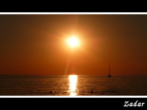 Sunset en Zadar