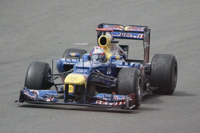 Red Bull Racing driver Sebastian Vettel at the 2012 British Grand Prix at Silverstone