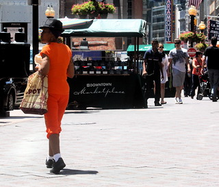 boston downtown crossing orange outfit