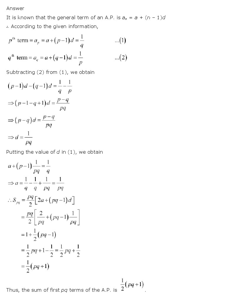 NCERT Solutions for Class 11th Maths: Chapter 9 – Sequences and ...