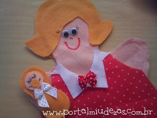 Fantoche Mamãe e Bebê / Grávida by miudezas_miudezas