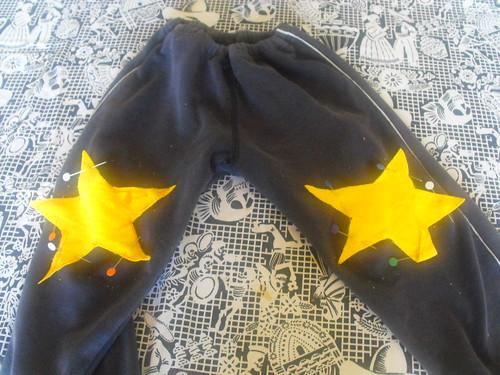 Reparando un pantalón