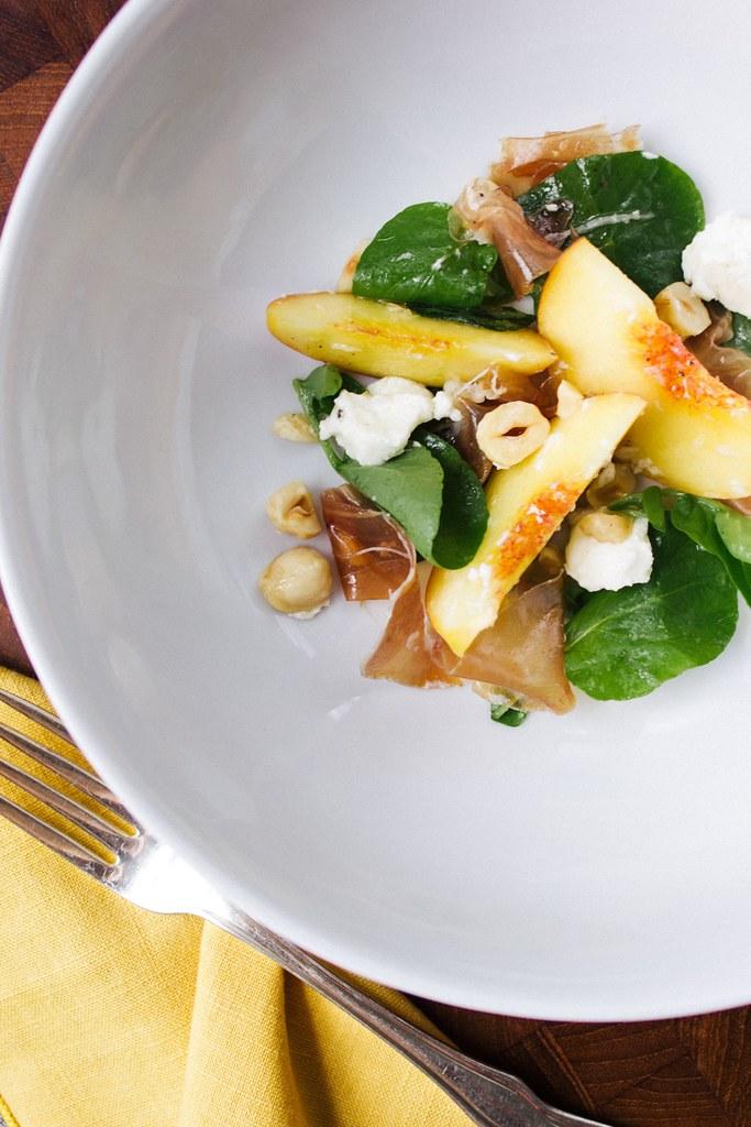 Peach Hazelnut and Feta Salad