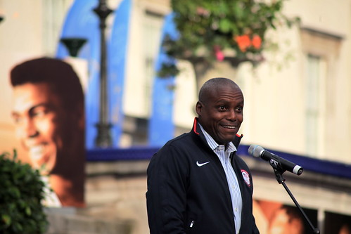 Carl Lewis at Moment of Peace, London 2012 Olympic Games