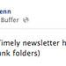 Chris Penn Facebook post alerting followers of email newsletter by djwaldow
