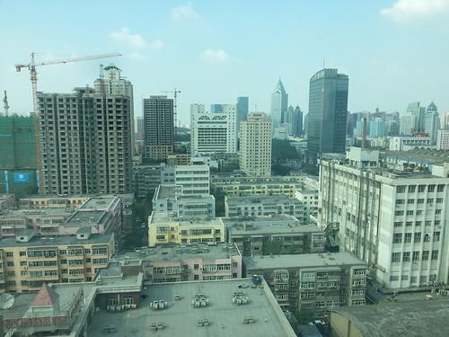 View from Hong Fu Hotel over Urumqi, China