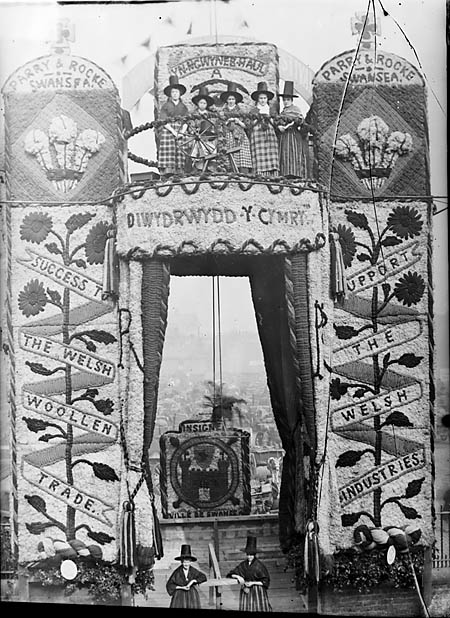 The entrance to the National Eisteddfod 1884, Liverpool