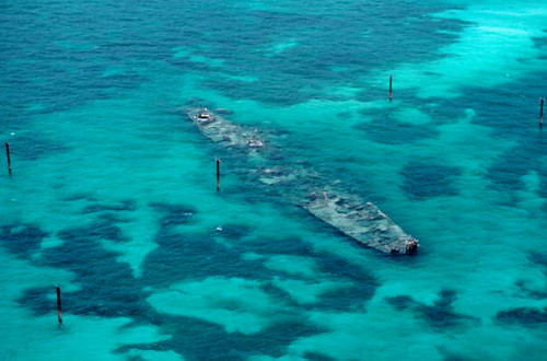 The old Patricia Target wreck site west of Key West