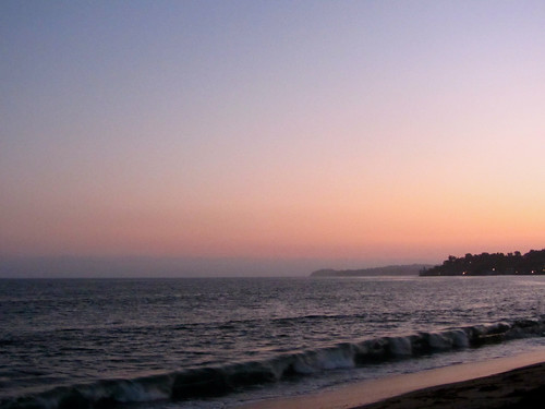 tuesday evening sunset in malibu