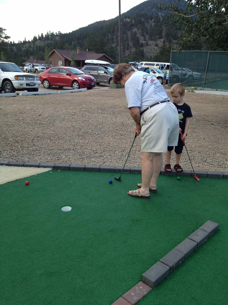 mini golf with Grandma