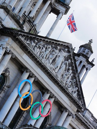 Belfast City Hall Celebrating the Olympics