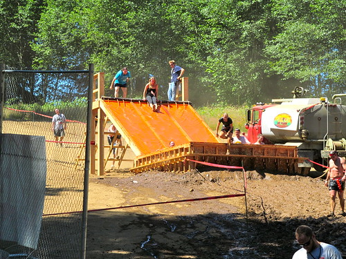 Final obstacle of the zombie race