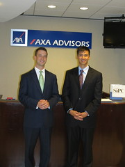 Brice Smith with Lyle Yablonsky, Vice President of the American Division of AXA by LAUSatPSU