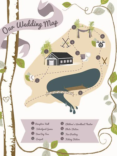 Wedding Map by Christa Jane Pierce