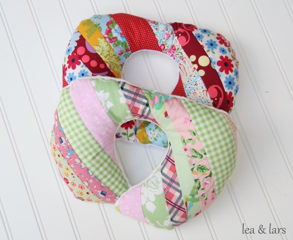 patchwork travel pillow