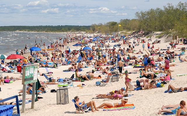 Grand Beach On August Long Weekend 2012 In Manitoba