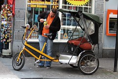rickshaw, vehicle, mode of transport, land vehicle, tricycle,