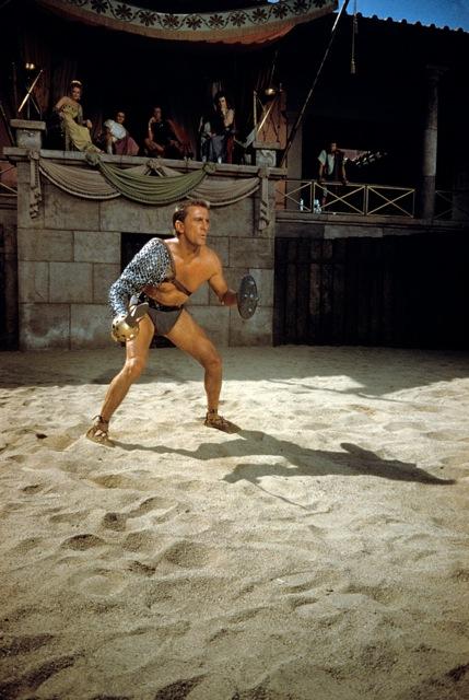 Kirk Douglass as Spartacus