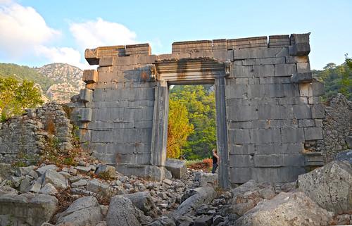 Roman Temple at Olympos beach