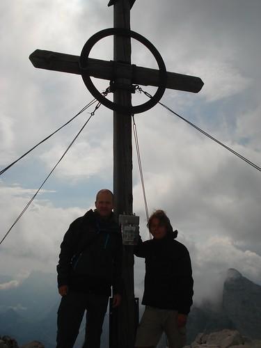 Gipfelkreuz Birkkarspitze