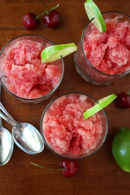 Cherry Limeade Granita - Completely Delicious