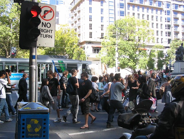 Swanston and Collins Streets, 2008