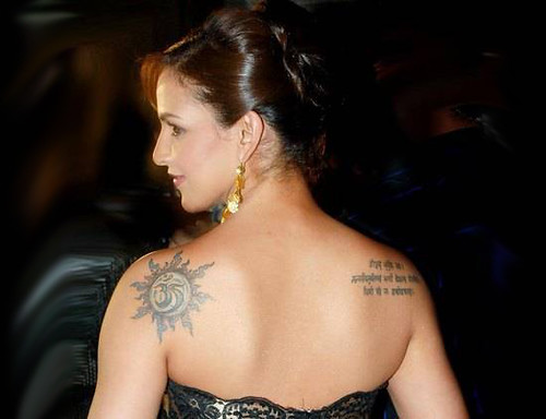 esha deol tattoos