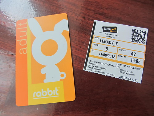 Rabbit Card + Bourne Legacy