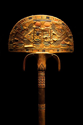 Tutankhamen's golden staff by The Bacher Family