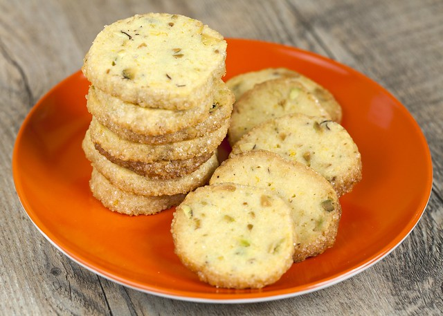 Pistachio-Orange Shortbread Cookies
