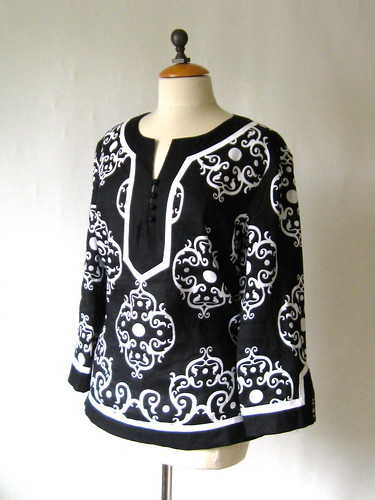 black white tunic RTW