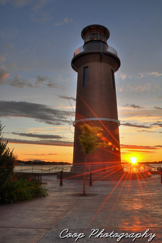 sunset summer orange lighthouse island photography washington nikon cities wa coop clover tri richland kennewick pasco sunstar d90