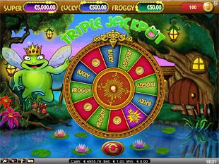 Super Lucky Frog bonus game