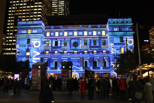 Customs House at Vivid Sydney (Blue)