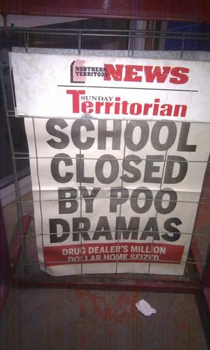School closed by poo dramas