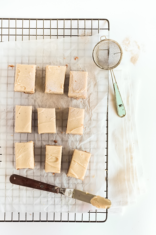 Spiced Blondies with Chai Infused Ganache