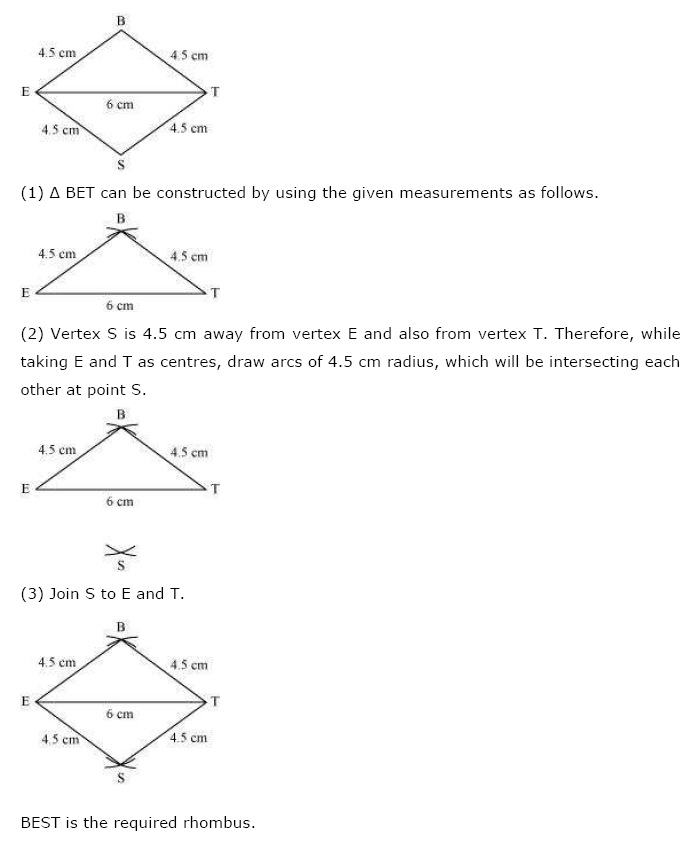 NCERT Solutions For Class 8 Maths Ch 4 Practical Geometry PDF Download