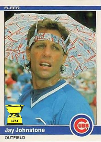 Baseball Card Bust Jay Johnstone 1984 Fleer
