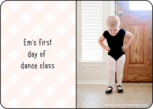 first day of dance class