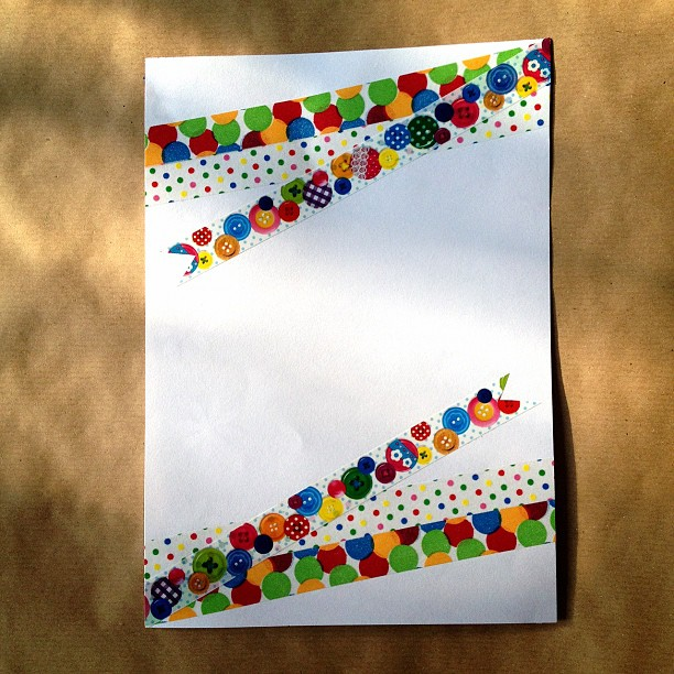 #washitape #spotty #spots #rainbow #letter #snailmail