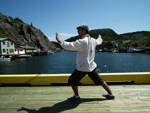 Doing Taijiquan  in Quidi Vidi Village, Newfoundland (Saint John's, 2012)