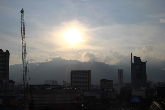 (Cloudy) Sunset: George Town City Centre