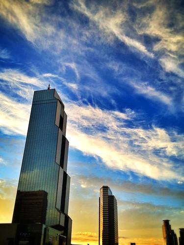 city sky cloud gangnam 서울 강남 구름