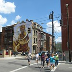 Golden Girl Mural, 13th & Race Streets