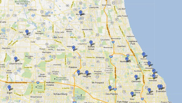 West Nile Virus In The Northern Chicago Suburbs Map