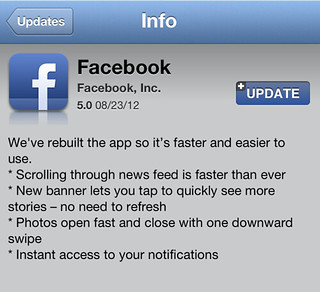 Facebook iOS Update