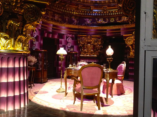 Dolores Umbridge's very pink office in the Ministry of Magic