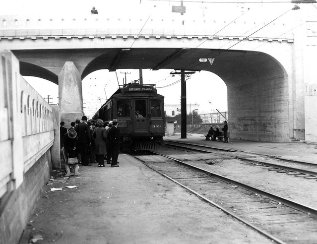 Pacific Electric Railway Company car no.989 on Venice Short Line ... Pacific Railway Company